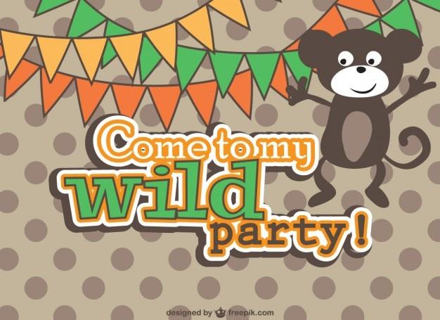 Vektor-party-einladung