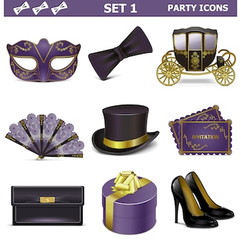 Vektor-party-icons set 1