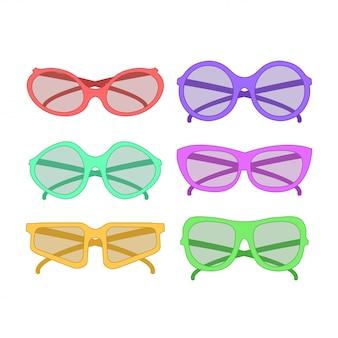 Vektor-party-sonnenbrille. zubehör für hipster mode brillen sehkraft zu sehen