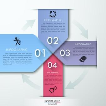 Vektor pfeil infografiken banner.