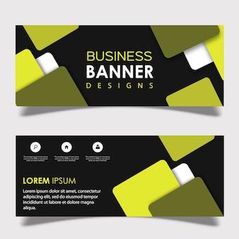 Vektor-quadrat-banner-design