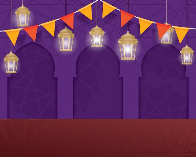 Vektor ramadan kareem hintergrund