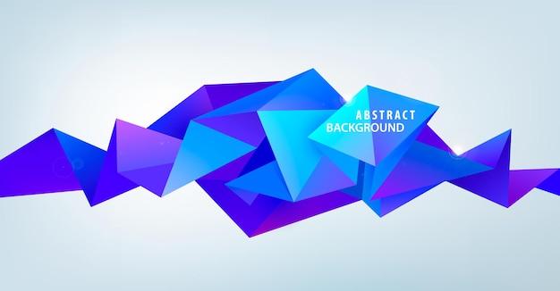 Vektor realistische abstrakte 3d-form. facettierter horizontaler hintergrund, gestaltungselemente. futuristisches banner, poster.