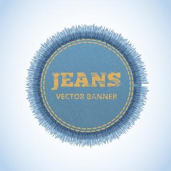 Vektor realistisches banner der jeans.