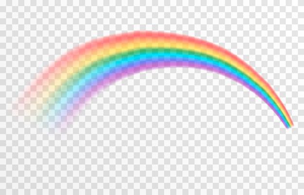 Vektor-regenbogen auf isoliertem transparentem hintergrund effekt nach regen regenbogen png