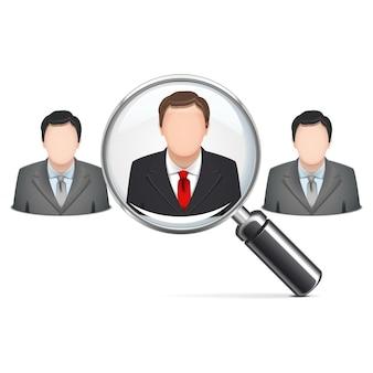 Vektor-rekrutierungskonzept isoliert auf weißem hintergrund