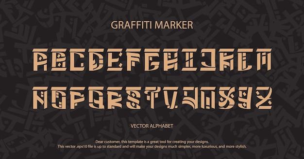 Vektor-retro-alphabet. typografie für etiketten, schlagzeilen, poster usw. vintage-schriftart.