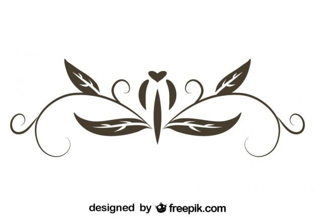 Vektor retro kalligrafische design