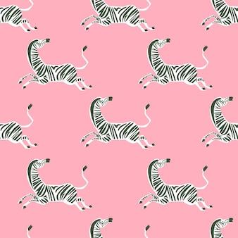 Vektor retro-neonfarbe zebra illustration motiv nahtlose wiederholungsmuster digitale datei artwork home