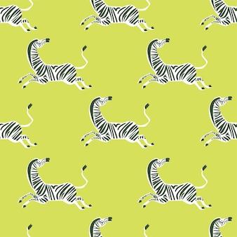 Vektor retro-neonfarbe zebra illustration motiv nahtlose wiederholungsmuster digitale datei artwork