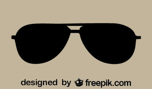 Vektor-retro-sonnenbrille symbol