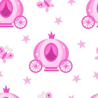 Vektor rosa cartoon nahtlose muster für ein geschenkpapier bekleidung