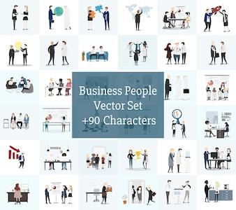 Vektor-Sammlung von Geschäftsleuten