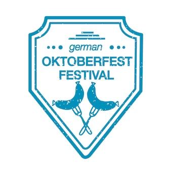 Vektor-sammlung von handgezeichneten logo-vorlagen für das oktoberfest. deutsche festival-logos. vintage-abzeichen und symbole. handskizzierte moderne ikonen. oktoberfest-etiketten.