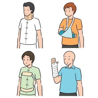 Vektor-satz von orthopädischen besetzung