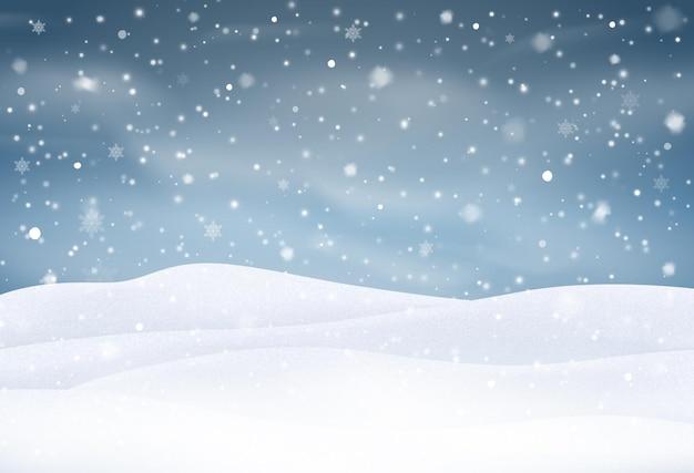 Vektor schneefall isoliert winter hintergrund schnee overlay schneeflocken eis und schnee landschaft