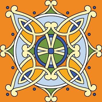 Vektor schöner nahtloser dekorativer fliesenhintergrund.