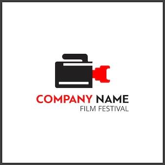 Vektor schwarz und rot icon für fotografen video-kamera-symbol