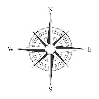 Vektor schwarze kompass symbole.
