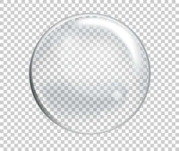 Vektor-seifenwasser-große blase realistisch auf transparentem