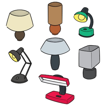 Vektor-set der lampe