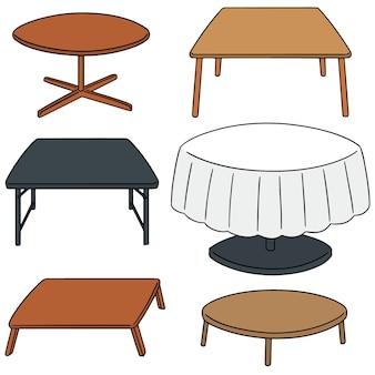 Vektor-set der tabelle