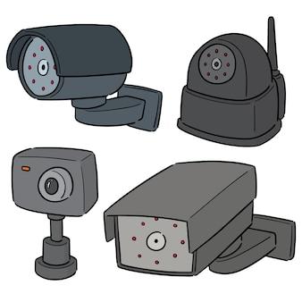 Vektor-set der überwachungskamera
