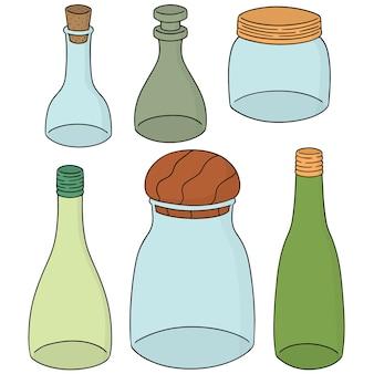 Vektor-set flasche