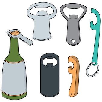 Vektor-set flaschenöffner