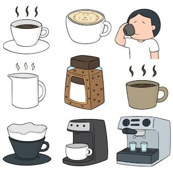 Vektor-set kaffee