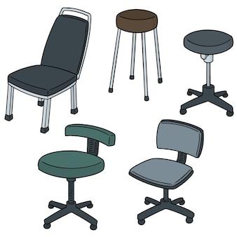 Vektor-set stühle