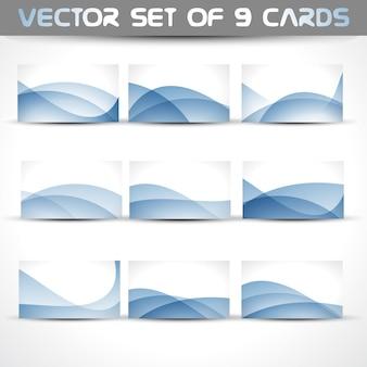 Vektor-set von 9 visitenkarten