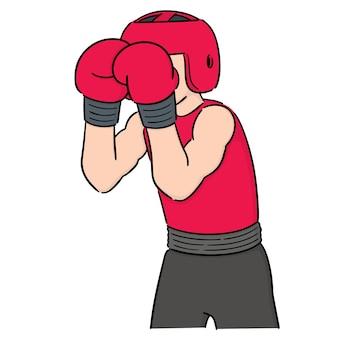 Vektor-set von boxer