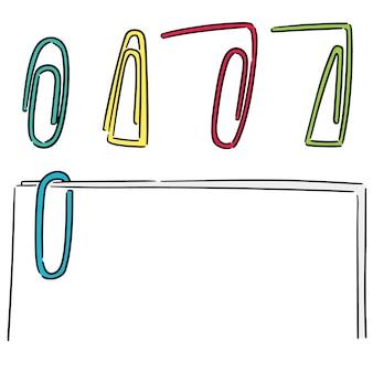 Vektor-set von büroklammer