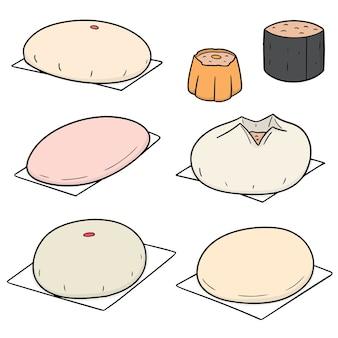 Vektor-set von chinesischen snack
