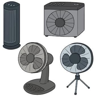 Vektor-set von fan