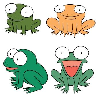 Vektor-set von frosch