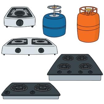 Vektor-set von gasherd