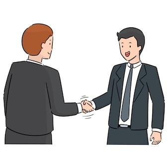 Vektor-set von handshake
