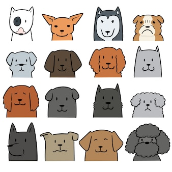 Vektor-set von hund