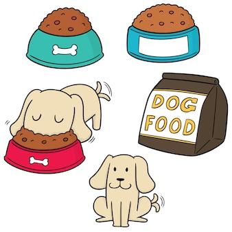 Vektor-set von hundefutter