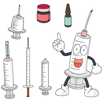 Vektor-set von injektionsmedizin