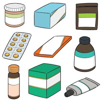 Vektor-Set von Medizin