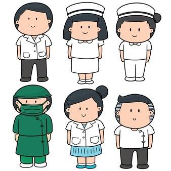 Vektor-set von medizinischem personal