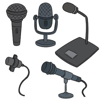 Vektor-set von mikrofon