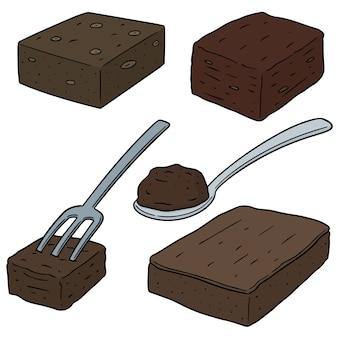 Vektor-set von schokoladenkuchen
