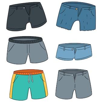 Vektor-set von shorts