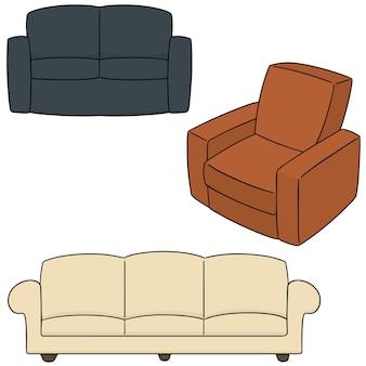 Vektor-set von sofa