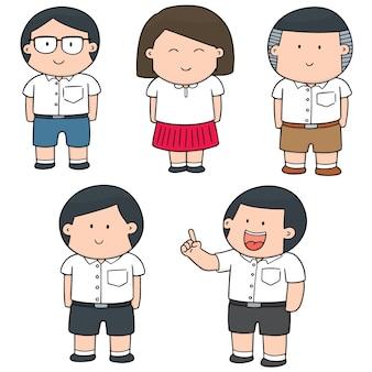 Vektor-set von studenten