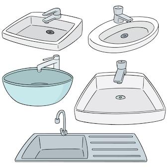 Vektor-set von waschbecken